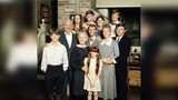 The Waltons photo from Jan. 1, 1977. From L to R: (back row) Mary McDonough, Jon Walmsley, Judy Norton, Eric Scott. Middle: Will Greer, Richard Thomas, Michael Learned, Ralph Waite. Bottom : David Harper, Ellen Corby, and Kami Cotler.