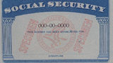 Blank specimen social security card. The Social Security Administration announced Thursday a 1.6% cost-of-living adjustment in the benefit starting next year.