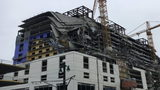 Several of the upper floors of a Hard Rock Hotel in New Orleans collapsed Saturday morning.