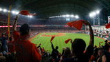 Astros fans were enthusiastic when the ALCS began Saturday night at Minute Maid Park.