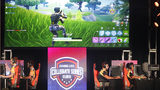 Students from Louisiana State University and The University of Washington compete in the online game Fortnite during DreamHack Atlanta 2018 at the Georgia World Congress Center on November 16, 2018, in Atlanta.