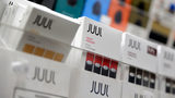 In this Dec. 20, 2018, file photo Juul products are displayed at a smoke shop in New York.
