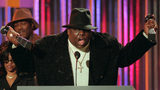 Rapper Biggie Smalls is seen at the 1995 Billboard Music Awards. Smalls, whose birth name was Christopher Wallace, was killed March 9, 1997, in a Los Angeles drive-by shooting, six months after the Las Vegas drive-by killing of rival Tupac Shakur.