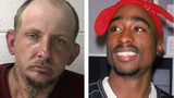 A Tennessee man named Tupac Shakur, left, was arrested Saturday, Oct. 19, 2019, in Johnson City on assault and meth charges. Shakur, 40, of Elizabethtown, shares a name, down to the middle name Amaru, with the rapper, seen at right, slain in 1996.