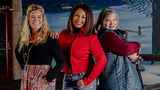 (L to R) Lisa Whelchel, Kim Fields, and Mindy Cohn star in You Light Up My Christmas premiering December 1 at 8pm ET/PT.