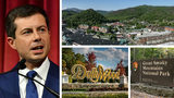 People are demanding a boycott of Tennessee tourist attractions, including Gatlinburg, Dollywood and the Great Smoky Mountains National Park, after a Sevier County commissioner used a gay slur against presidential candidate Pete Buttigieg, at left.