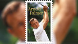 The stamp features an action photograph of Palmer at the 1964 U.S. Open at the Congressional Country Club in Bethesda, Maryland.