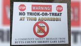 Registered sex offenders in Butts County, Georgia, are suing to stop the Sheriff's Office from putting signs in their yards to discourage trick-or-treaters ahead of Halloween.