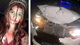 Must see: Girl in 'Carrie' costume hits deer, gives responders bloody scare