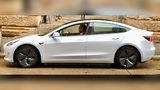 "In a Facebook post, officials said Tesla provided them the opportunity to test-drive a Model 3 for the week ""in hopes that we can add Tesla's to our fleet."" (Allegheny County Sheriff's Office)"