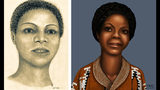 A woman dubbed Jane Seneca Doe when her body was found Oct. 2, 1976, in a Grundy County, Ill., ditch is pictured in artists' renderings. Authorities continue trying to identify the woman, who was shot in the head, 43 years after her death.