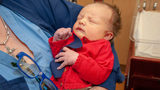 Newborns at Highmark Health in Pittsburgh help honor the memory of Mr. Rogers and his message of kindness for World Cardigan Day and World Kindness Day.