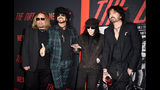 "(L-R) Vince Neil, Nikki Sixx, Mick Mars and Tommy Lee of Motley Crue arrive at the premiere of Netflix's ""The Dirt"" at ArcLight Hollywood on March 18, 2019 in Hollywood, California. (Photo by Kevin Winter/Getty Images)"