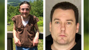 John Chapman, 39, of Oakland, Md., was charged Friday, Nov. 15, 2019, in the disappearance of Jaime Feden, left, of Bethel Park, Penn. Police say the married Chapman admitted he drove Feden, 33, to the Nevada desert and killed her in September.