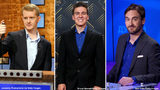 "FILE PHOTO: Ken Jennings (left), James Holzhauer (center), and Brad Rutter will face off in a special prime-time ""Jeopardy!"" tournament."