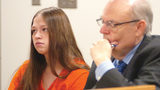 In this Aug. 26, 2015, file photo, Brittany Pilkington, left, appears for arraignment on three capital murder charges in the suffocation of her three sons.