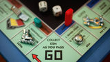 A detail of the new updated Monopoly board game is seen at the London Toy Fair on January 25, 2006 in London.