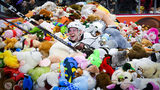 The Hershey Bears broke their own record for a Teddy Bear toss this weekend. The stuffed animals will be donated to local charities.