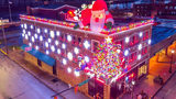 Angelos II in Monongahela replaced their Halloween display with this amazing holiday light display.