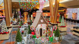 The massive gingerbread house is on display at Aria Resort & Casino in Las Vegas.
