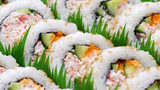 Stock photo of sushi rolls.